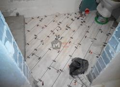 Укладка керамогранита в санузле (ванной)