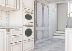 Ремонт дома по дизайн проекту в Экодолье кухня