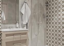 Ремонт дома по дизайн проекту в Экодолье ванная комната