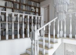 Ремонт дома по дизайн проекту в Экодолье лестница птолок кессоны