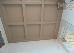 Ремонт дома по дизайн проекту в Экодолье потолок из ГКЛ кессоны