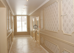 Отделка стен, пола коридора сантехники отделка коттеджа